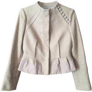 BCBCMaxAzria Cropped Peplum Hem 100% Wool Blazer